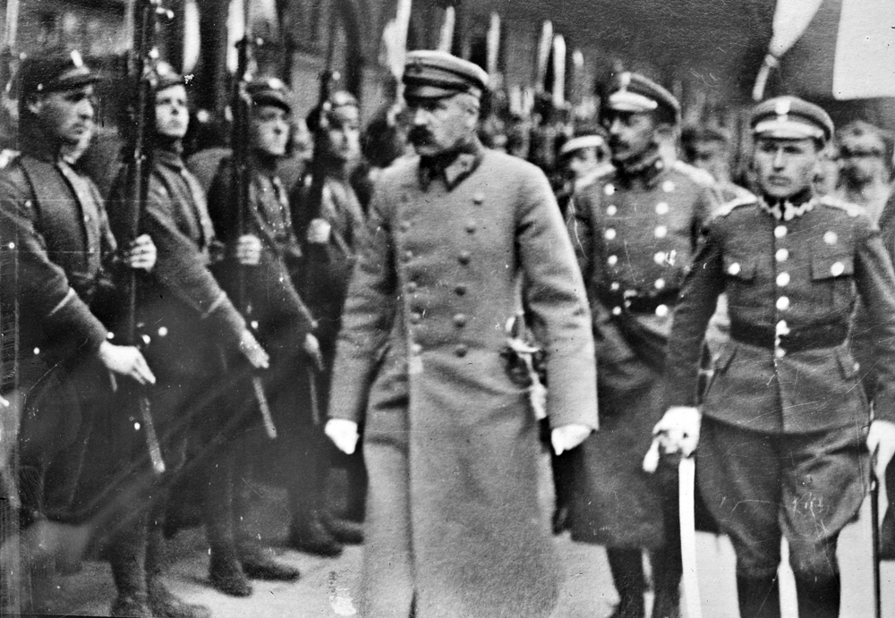 Юзеф Пилсудский в Минске, 1919 г.