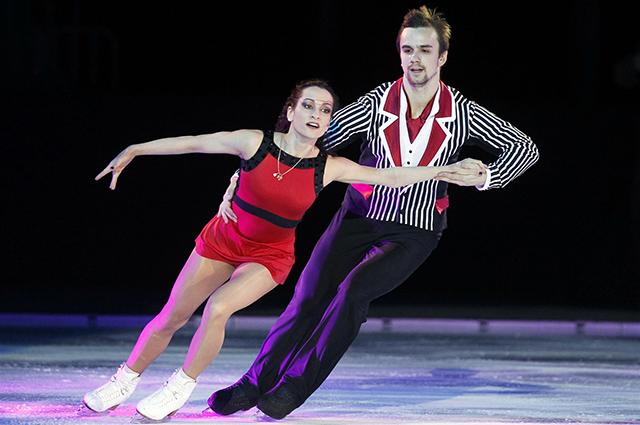 Серебряные призеры чемпионата мира по фигурному катанию 2014 в парном катании Ксения Столбова и Фёдор Климов