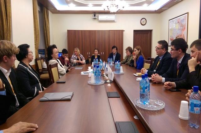 Встреча делегации с ректором СВФУ им. М.К.Аммосова.