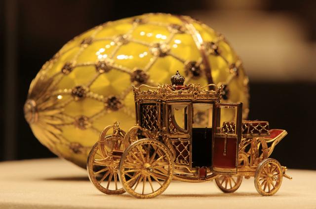 Экспонаты музея Фаберже в Санкт-Петербурге