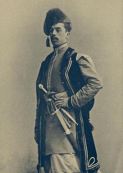 Корнет лейб-гвардии Конногренадерского полка Александр Васильевич Короченцов на костюмированном баллу.