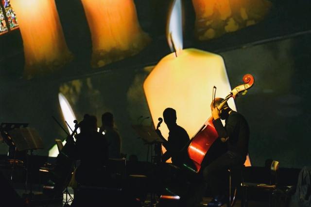 Музыкальное шоу нового формата объединило в себе живое исполнение симфонической классики и современную трехмерную графику.