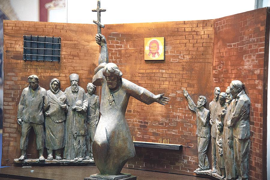 Эскиз памятника новомученикам Белгородским представили на выставке.