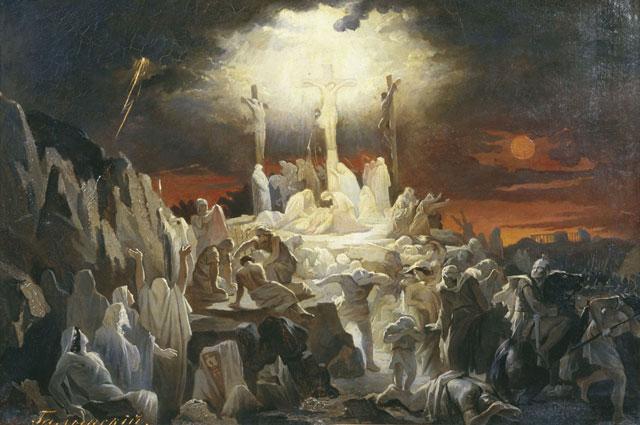 Василий Голынский.  Распятие Иисуса Христа. Работа не позднее 1904 года.