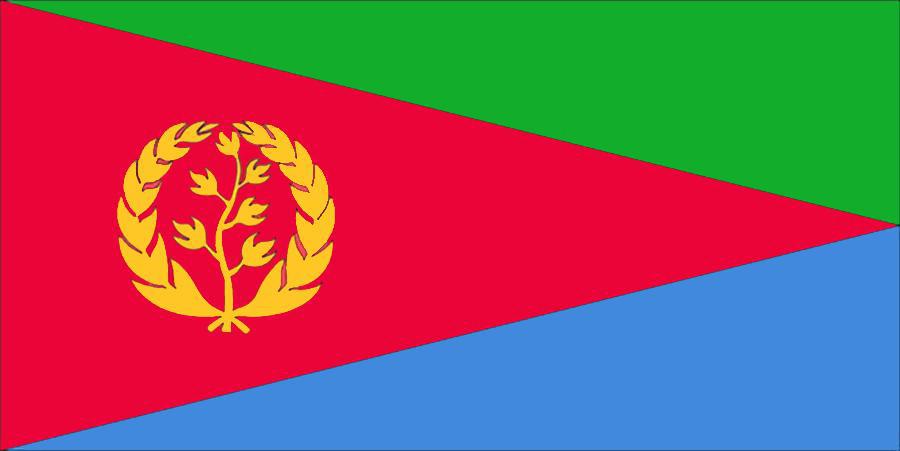 Флаг Эритреи.