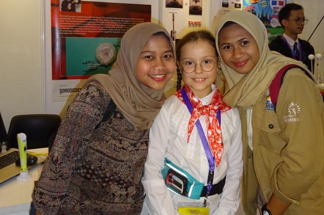На выставке в Индонезии.