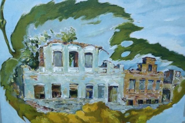 На картине «Осенний листок» изображен дом, стоявший в 1900-е годы на ул. Астрономической в Казани.