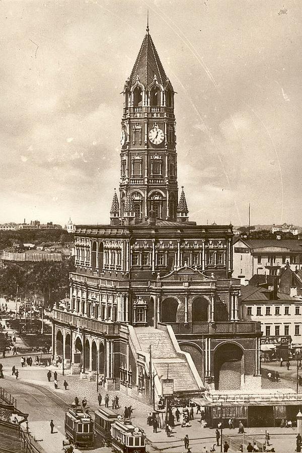 Сухаревская башня на открытке 1927 года