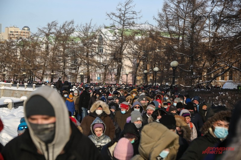 Такого массового несанкционированного шествия Екатеринбург не помнит