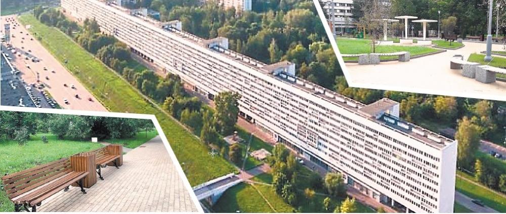 Территория вокруг самого знаменитого в Зеленограде «Дома-флейты» полностью благоустроена.