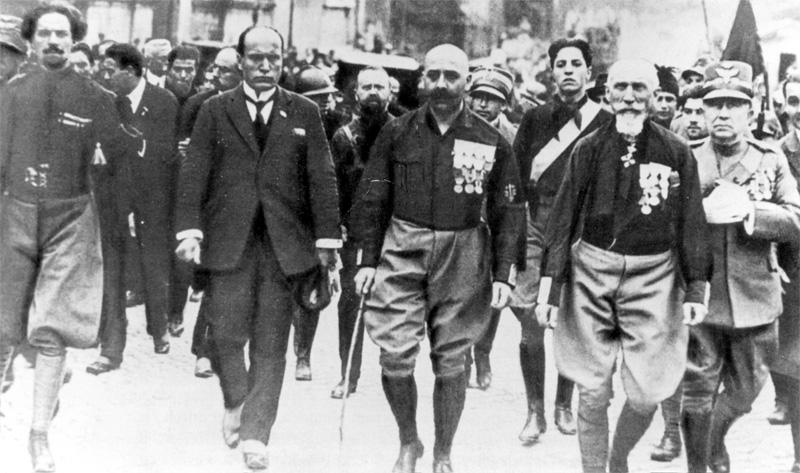 Шествие чернорубашечников на Рим в 1922 году