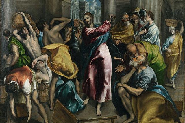 Эль Греко, Изгнание торгующих из Храма, около 1600