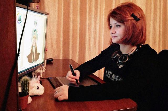 Элина Фаттахова нарисовала Того добрым и пушистым медведем