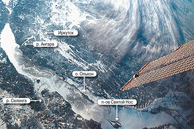 Самое глубокое озеро мира Байкал из космоса - как на ладони