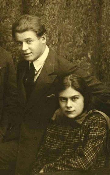 Софья Толстая и Сергей Есенин. 1925 год