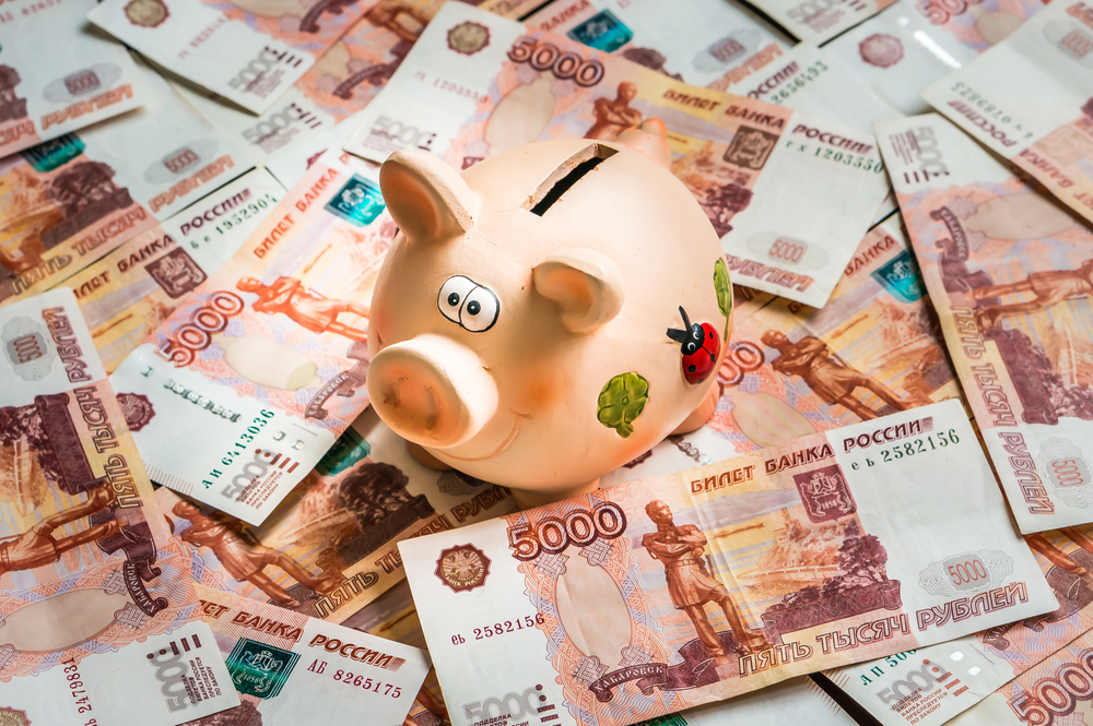 деньги, рубли, копилка