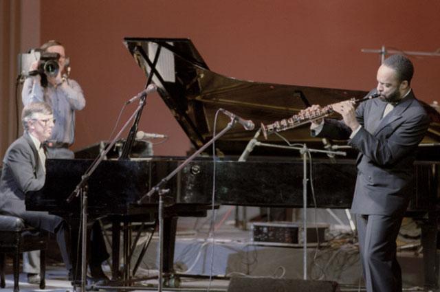 Раймонд Паулс на концерте советских и американских исполнителей джазовой музыки. Латвийская ССР, 1986 год