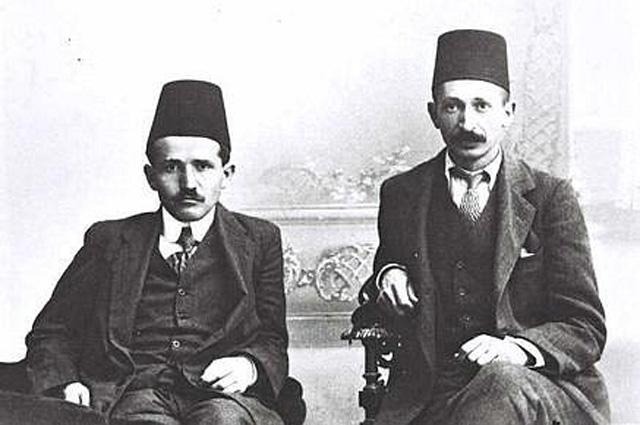 Ицхак Бен-Цви и Давид Бен-Гурион в Стамбуле (1912 год)