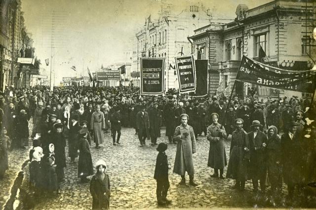 Майская демонстрация 1917 года в Красноярске.