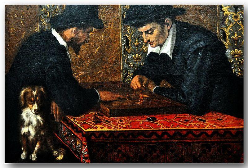 Лодовико Карраччи. Игроки в шахматы
