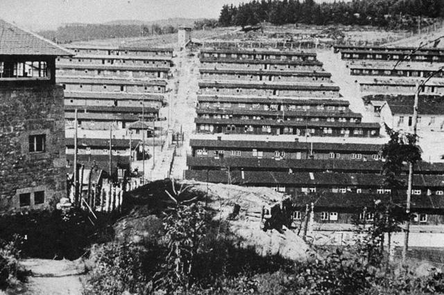 Концлагерь Флоссенбюрг. 1945 г.