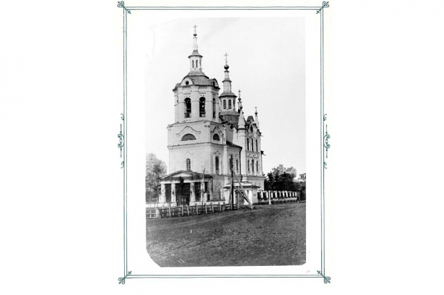 Первоначальный вид храма. Западная сторона. До 1887 года.