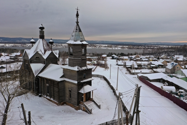Церковь в Барабаново – уникальнейший вид деревянного зодчества, который есть только в России.