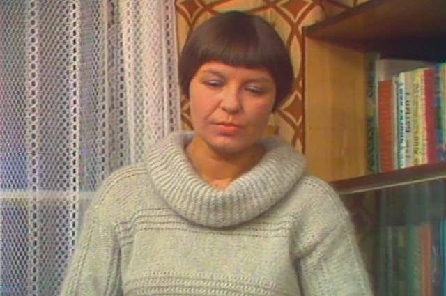 Галина Фигловская. Кадр из фильма «Следы остаются» (1982)