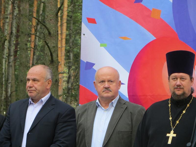Генеральный директор ГК «Надежда» Александр Гавричков на открытии Парка Поколений.