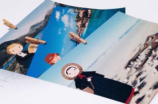 Забавные открытки вологжанки с милыми барышнями-учеными нашли поклонников по всему миру.