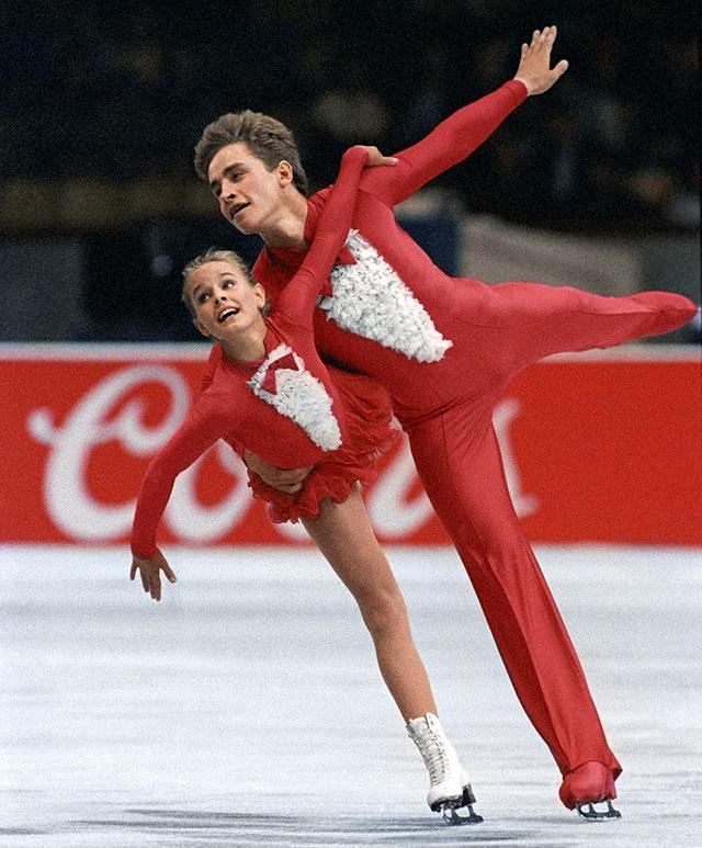 Екатерина Гордеева и Сергей Гриньков выступают во Дворце спорта в Лужниках на Играх доброй воли, 1986 г.
