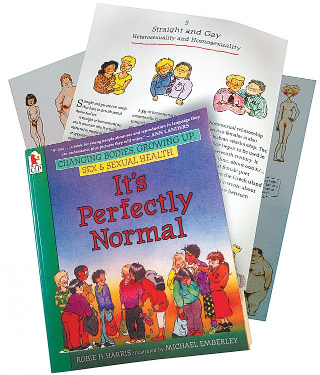В США книга под названием Это абсолютно нормально рекомендована для чтения в 4-м классе. На одной из страниц рассказывается о том, что это нормально - быть геем или лесбиянкой