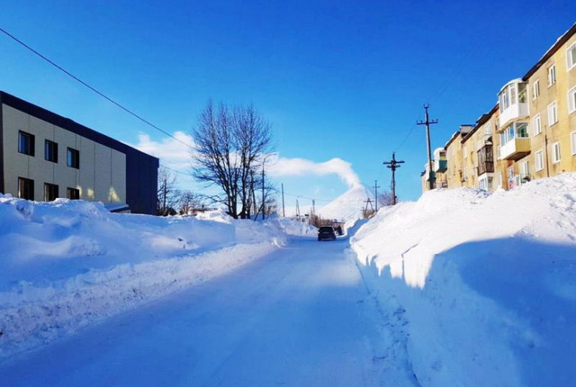 Поселок Ключи, уборка снега, снегоочистка
