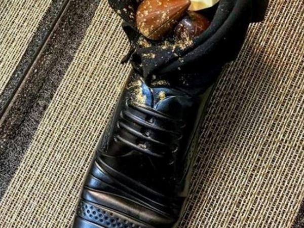 десерт в ботинке