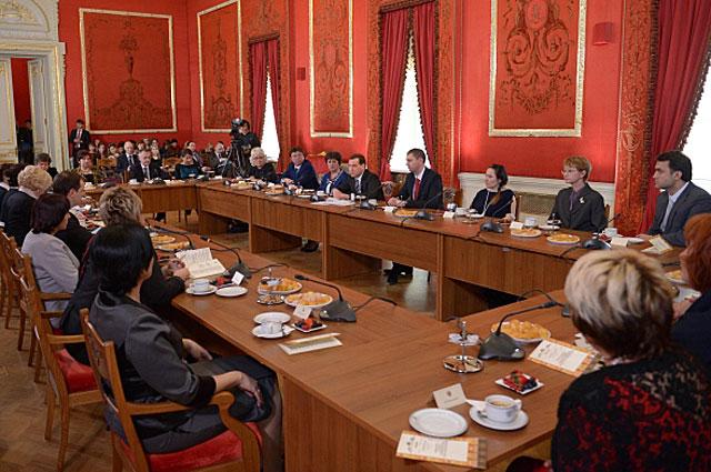 Дмитрий Медведев на встрече с работниками культуры в ГАБТ