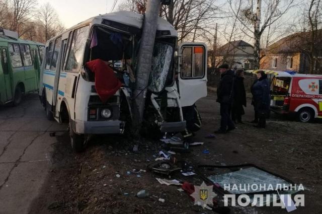 Фото с места аварии в Житомирской области