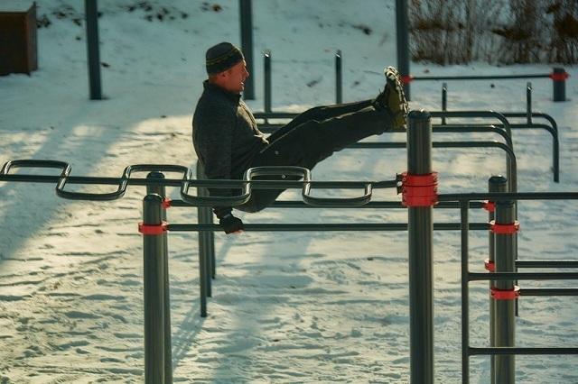 В парке можно погулять и заняться спортом.
