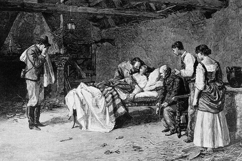 Смерть супруги Гарибальди Аниты, 1849 год