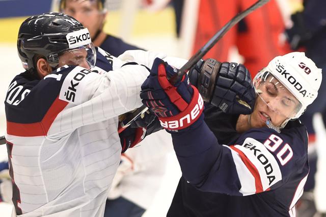 Чемпионат мира по хоккею 2015, матч между США и Словакией