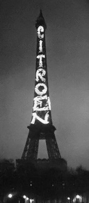 Эйфелева башня служила билбордом Citro n с 1925 по 1934 гг
