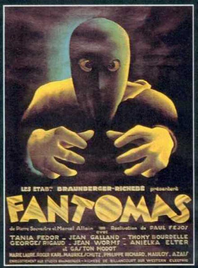 Плакат к фильму «Фантомас» 1932 года. Режиссер Пал Фейош.