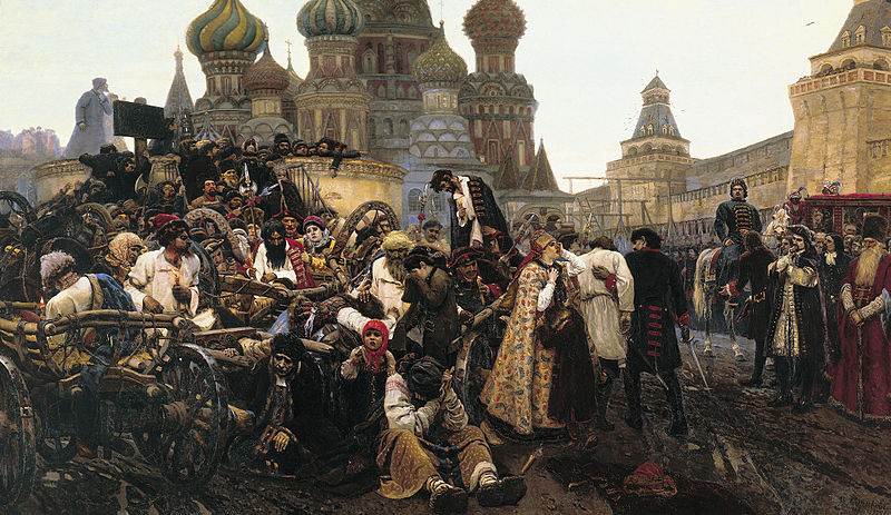 Утро стрелецкой казни. Картина В. И. Сурикова