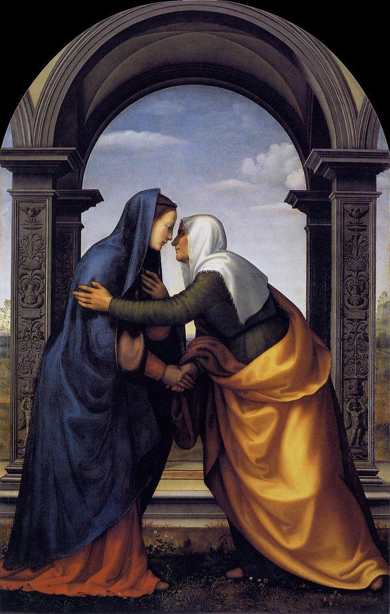 Мариотто Альбертинелли. Мария встречает Елизавету.