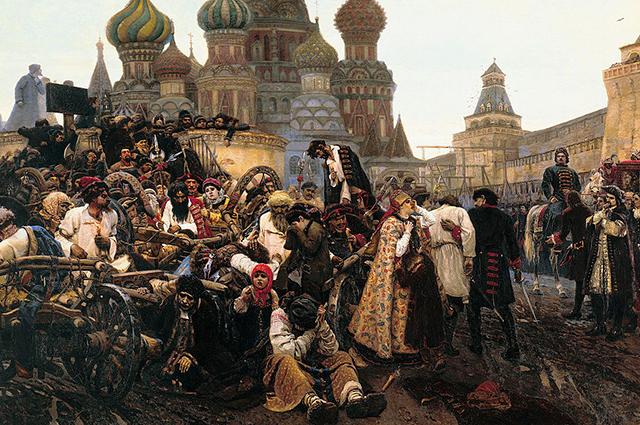 «Утро стрелецкой казни». В. И. Суриков (1881, ГТГ)