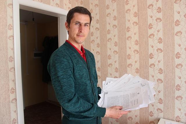 житель г.Сурска Евгений Чекунов