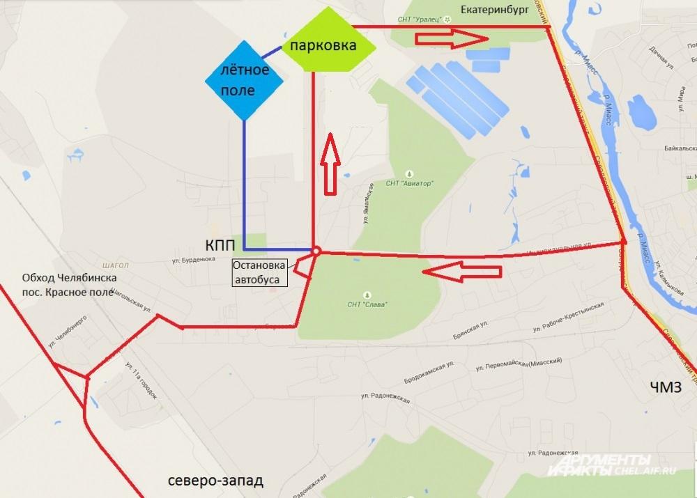 Схема парковки в ЧВВАКУШЕ.