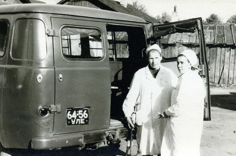 Дезинфекторы санитарно-эпидемиологической службы Ульяновска. 1970 год.