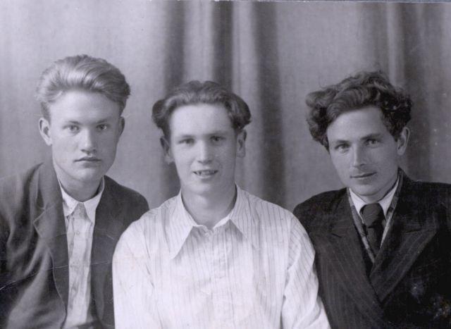 Студенты: Николай Благов, Рэм Герасимов, Николай Краснов. 16 мая 1950 года.