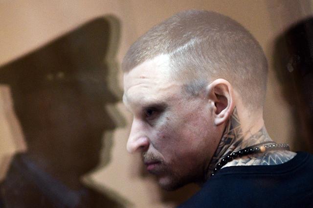 Футболист Павел Мамаев во время оглашения приговора в Пресненском суде города Москвы. 8 мая 2019 г.