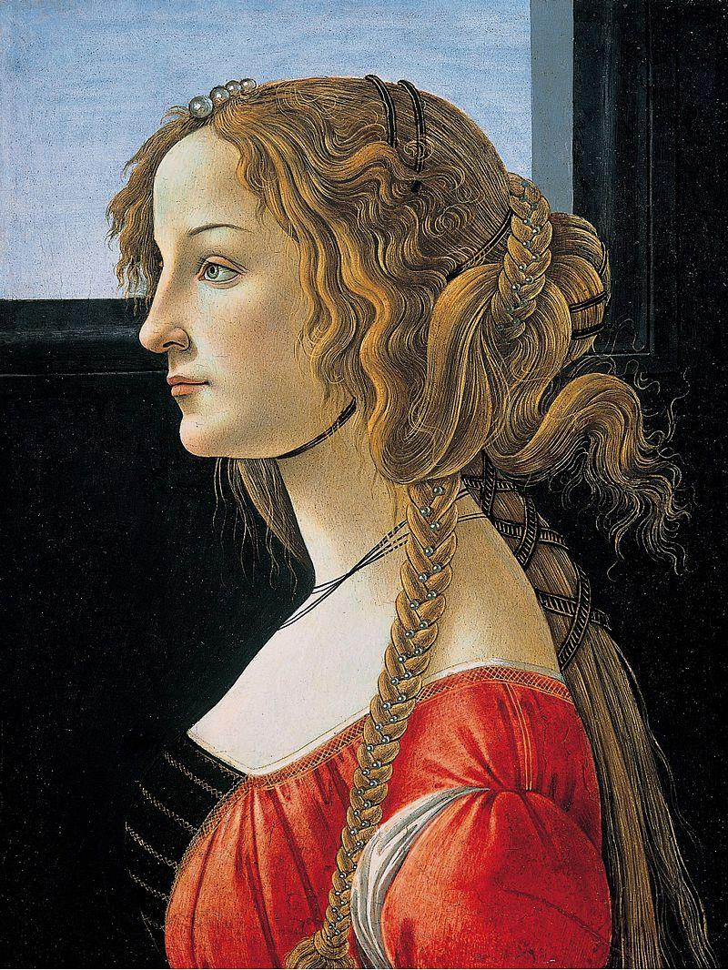 Сандро Боттичелли. Портрет молодой женщины